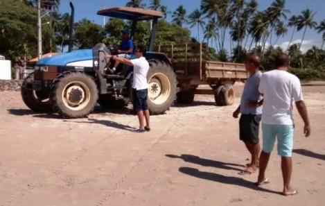 Prefeitura inicia limpeza nas praias da ilha nesta sexta